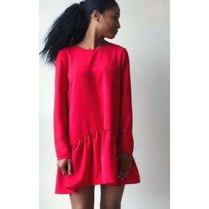 Zara Red romper jumpsuit dress
